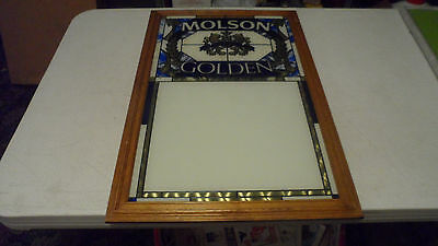 Rare Beautiful 1989 Molson Golden Beer Stained Glass Message Board Sign Dry Era