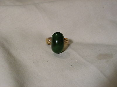 ...Vintage Domed Mixed Green Bakelite(tested) Ring...