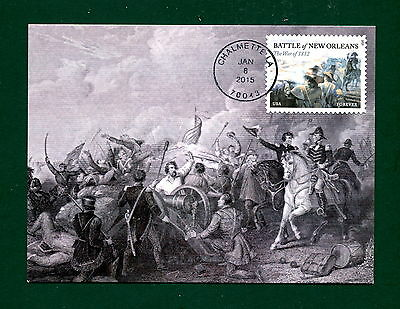 Sc. 4952 Battle of New Orleans FDC - Maxi Card 1