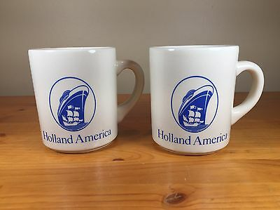 Set Of 2 Holland America Coffee Mugs Cruise Line Ship Cup