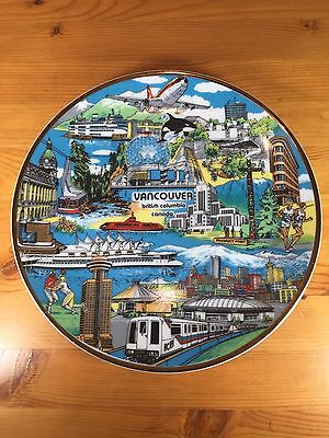 """Vancouver BC Collectors Plate """"The World In A City"""" Capilano Hanging"""