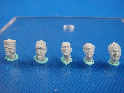 Resin Kit 1/35 The Injured Heads And Portrait of Old Man