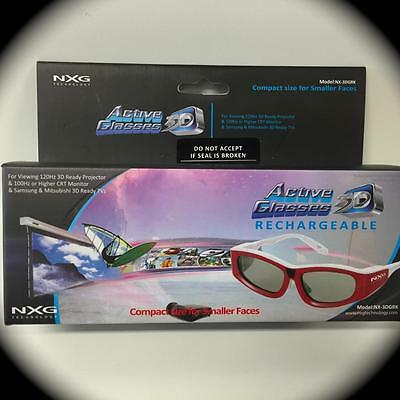 NXG Technologies NX-3DGRK Active Shutter Rechargeable Glasses-SAMSUNG-MITSUBISHI