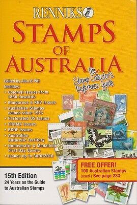 NEW 2016 Renniks Stamps of Australia Catalogue 15th Edition - FREE POSTAGE
