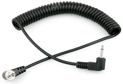 1Meter 2.5mm to Male Flash PC Sync Cable Cord with Screw Lock For Flash Trigger