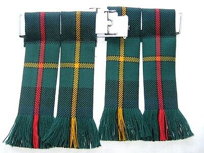 Kilt Hose Sock Flashes Smith Modern Tartan Worsted Wool Made In Scotland Kilts