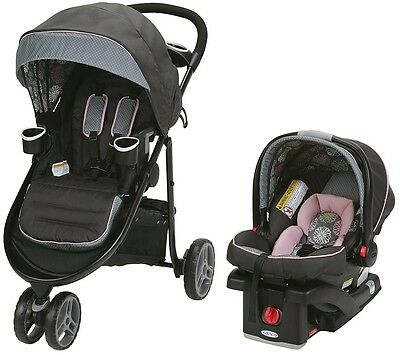 Graco Baby Modes 3 Lite Click Connect Travel System Stroller + Car Seat Addison