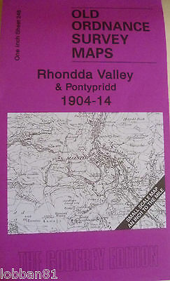 Old Ordnance Survey Map Rhondda Valley Pontypridd Map Coed Ely Colliery  1904-14