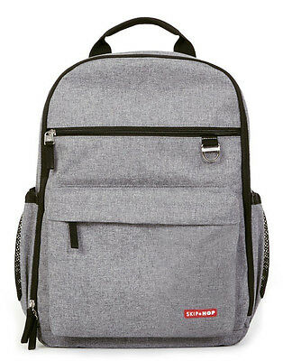 Skip Hop Duo Baby Diaper Bag Backpack w/ Changing Pad Heather Gray NEW