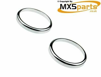 MX5 Chrome Side Wing Repeater Ring Covers Mazda MX-5 Eunos Mk1 Mk2 Mk3 1989>2015