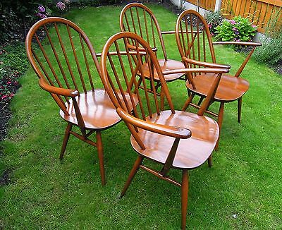 A Set Of 4 Ercol Carver Golden Dawn Armchair / Chairs