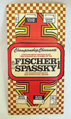Championship Chessmate Fischer Vs Spassky Slide Cards Includes All 20 Games 1972