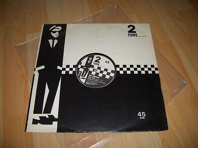 """THE SPECIALS 2-tone two ska mod GHOST TOWN 12"""" *VERY RARE WALT JABSCO SLEEVE*"""
