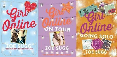 Girl Online 3 Book Set Collection by Zoe (Zoella) Sugg - On Tour, Going Solo