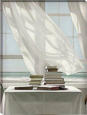 Framed Painting by Number kit Home Near The Sea Leisure Holiday Books DIY HT7005