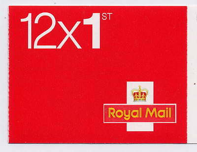 GB 2016 12 x 1st CLASS CYLINDER W7 BOOKLET MF8 MTIL M16L SECURITY BACKING PAPER