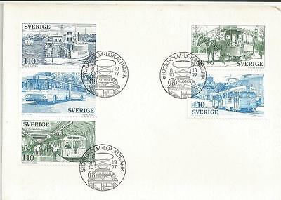 SWEDEN - 1977 Local Public Transport    - FIRST DAY COVER