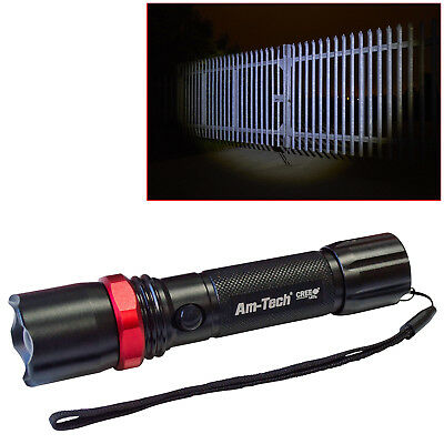 12W Rechargeable Cree Led Zoomable Torch Li-Ion Battery 720 Lumen 10 Year Warr!