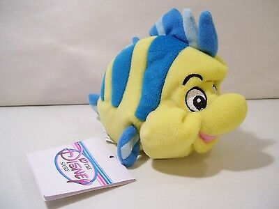 Nwt Disney Store Little Mermaid Flounder Fish Bean Plush