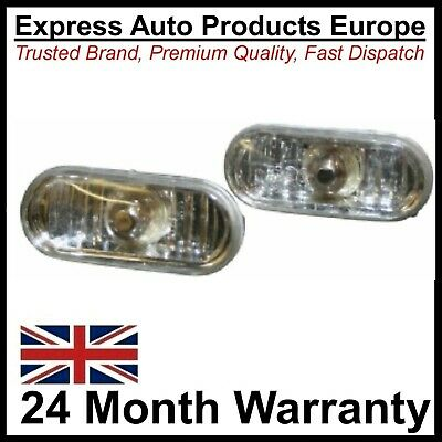 Crystal Clear Side Repeaters Oval Turn Signal Indicators VW SEAT