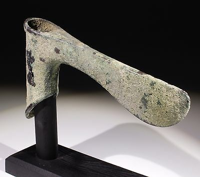 Ancient Luristan Bronze Long Bladed Axe Head - Circa 2000-1500Bc