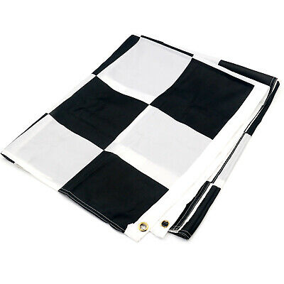 Large Black and White Chequered Flag Motor Racing F1 5 Foot x 3 Foot - By TRIXES