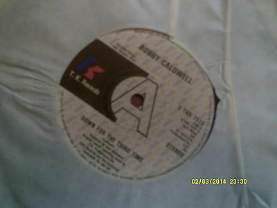 """Bobby Caldwell-Down For The Third Time 1979 Promo 7"""" Soul/funk"""