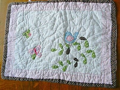 Pottery Barn Kids Pillow Sham (from Hayley quilt set) Monogram Removed
