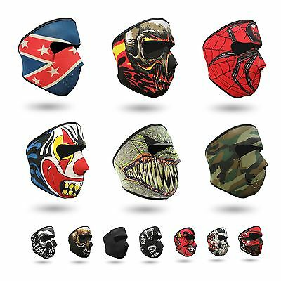 Neoprene Full Face Reversible Mask Motorcycle Skiing Snowboarding Bike Ski Quad