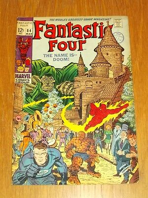Fantastic Four #84 Vg/fn (5.0) Marvel Comics Kirby Dr Doom March 1969