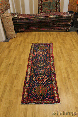 S Antique Tribal Navy Hamedan Persian Oriental Area Rug Carpet Lowest Price 3X10