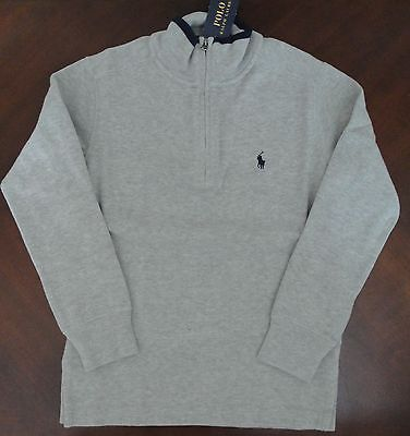 NWT Ralph Lauren Boys French Rib Half Zip Pullover Sweater Sz 8 Small NEW $60