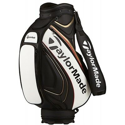 NEW TaylorMade Golf Tour Staff Bag 2016 Black / White / Gold / Red Retail: $399
