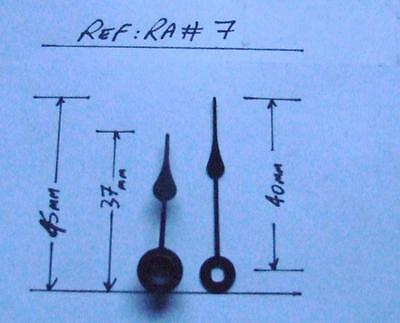 22/2 ra/style#7 : 2 Pairs replacement metal clock hands,
