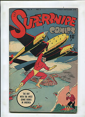 Supersnipe Comics Vol. 4 #7 (5.0) Great Airplane Cover