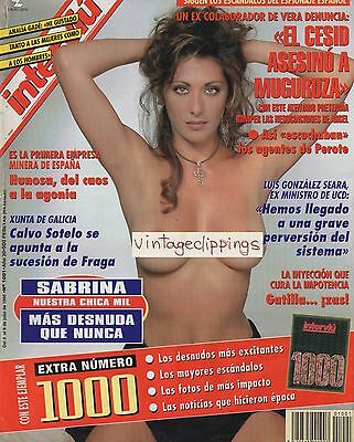 SABRINA SALERNO Interviu 1995 cover + 8 page article nude sexy photos clippings