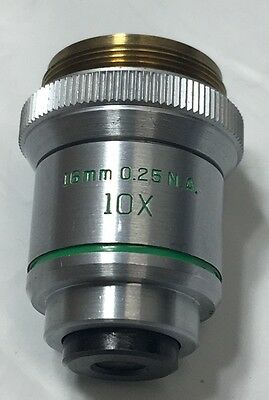 Bausch & Lomb Microscope Objective 10X 16Mm .25 N.a.~Free Fast Priority Shipping