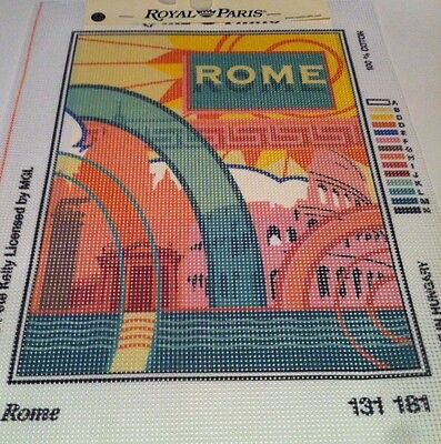 Tapestry Needlepoint Canvas Royal Paris 23 X 31 cm Rome By Pete Kelly 131 181