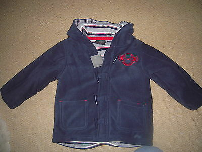 BNWT Next Navy Duffle Jacket with Monkey Motif for age 2-3 years