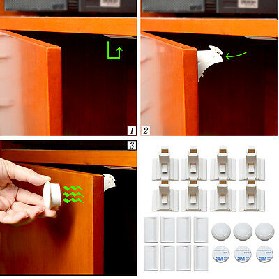 BabyGuard Magnetic Child Safety Locks for Cabinets Drawers Proofing 8Locks+3 Key
