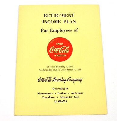 Coca Cola Coke USA 1968 Broschüre Heft - Retirement Income Plan