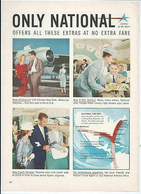 1959 National Airlines - Airline Of The Stars Vintage Print Ad