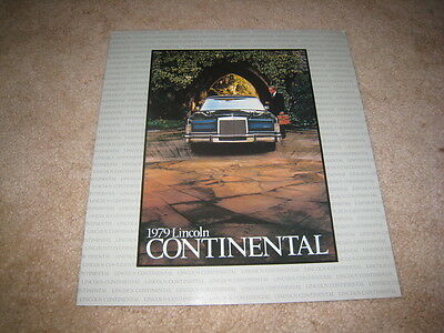 1979 Lincoln Continental Town Car sales brochure dealer catalog literature