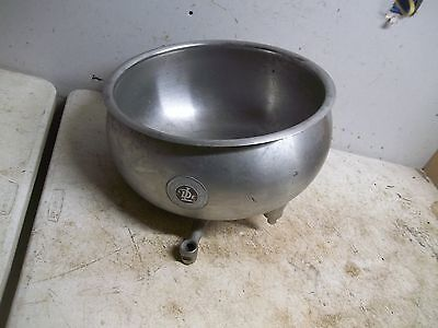 Old Stainless steel Delaval Cream Separator Bowl Flower Pot Garden Planter