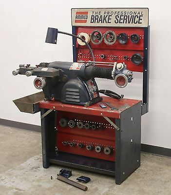 Ammco 4100 Heavy Duty Disc & Drum Brake Lathe w/ Bench & Adapter Kit