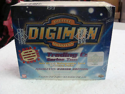 SEALED UNOPENED 1999 Upper Deck Bandai Digimon Series 2 Trading Cards Box