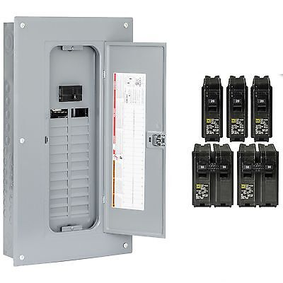 100 Amp Breaker Panel Electrical Square D Load Center 48-Circuit 24-Space Main