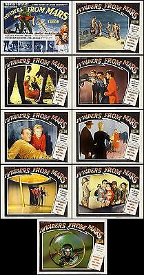 INVADERS FROM MARS COMPLETE SET OF 9 SCI-FI classic 11x14 LC PRINTS 1953