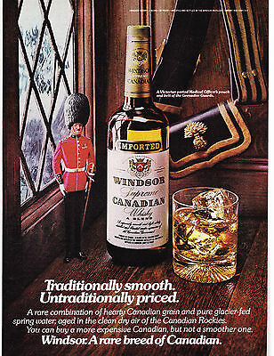 Original Print Ad-1976 WINDSOR CANADIAN-A Rare Breed of Canadian-Grenadier Guard