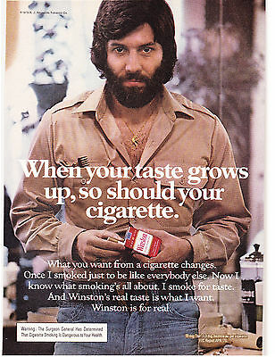 Original Print Ad-1976 When Your Taste Grows Up-So Should Your Cigarette-WINSTON